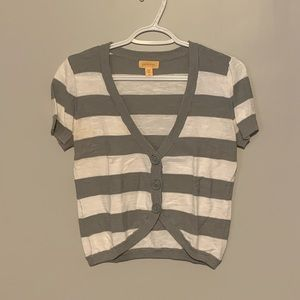 2 for $15!! Stripped Short Sleeve Cardigan